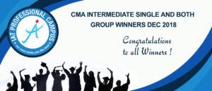 CMA INTERMEDIATE SINGLE AND BOTH GROUP WINNERS  DEC 2018