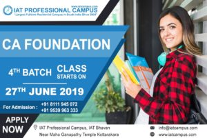 Read more about the article CA Foundation Fourth Batch 2019