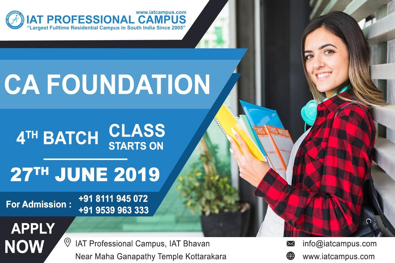 CA Foundation Fourth Batch 2019