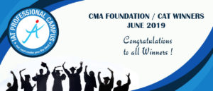 CMA FOUNDATION / CAT WINNERS JUNE 2019