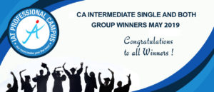 CA INTERMEDIATE SINGLE AND BOTH GROUP WINNERS MAY 2019