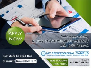 Golden Opportunity to Study Chartered Accountancy