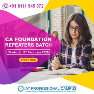 CA Foundation Repeaters Batch 2020