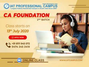 CA Foundation 2nd Batch- Online Class