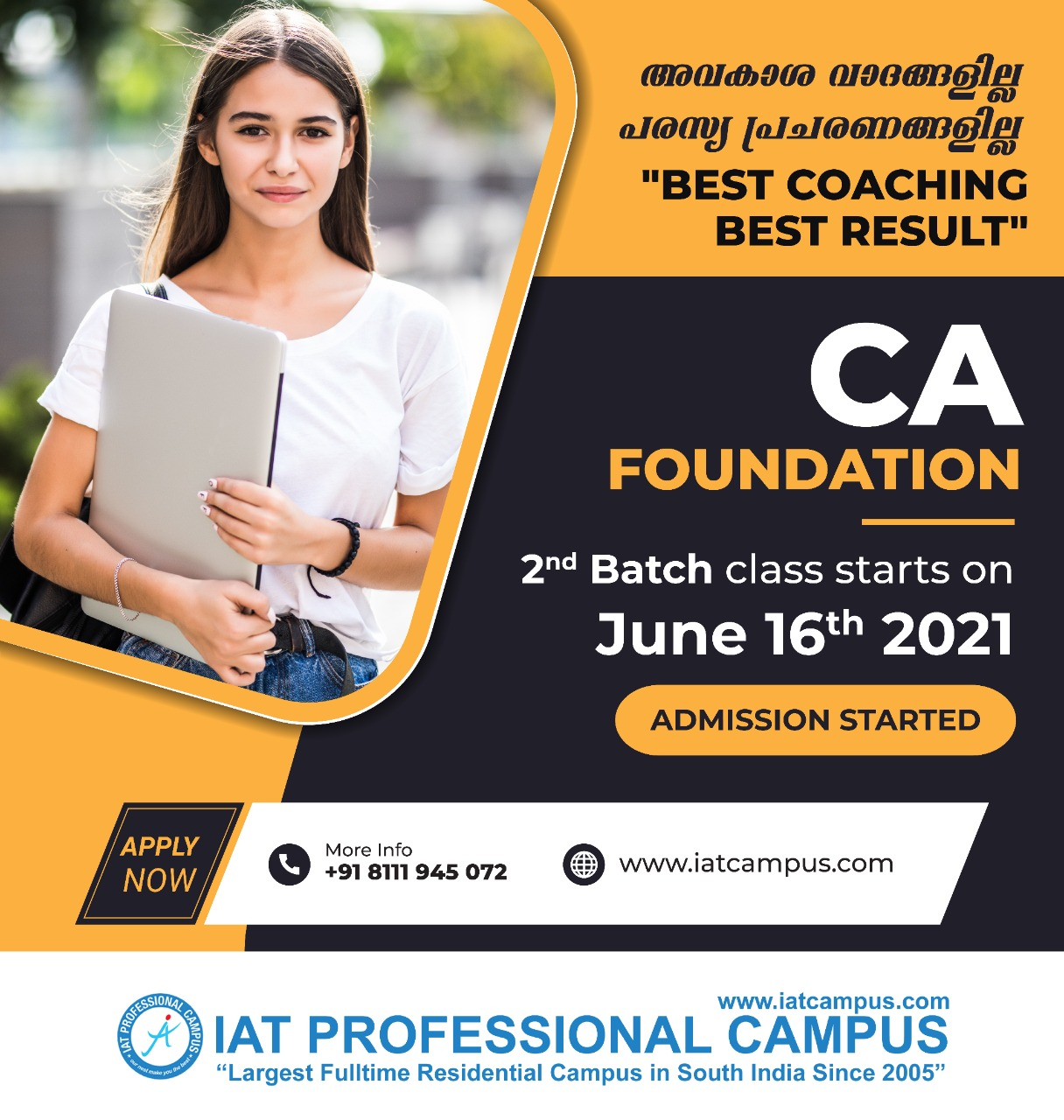 CA Foundation Class Admission Started