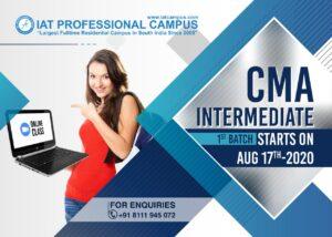 CMA Intermediate 1st Batch – Online Class