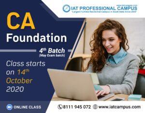 CA Foundation 4th Batch 2020